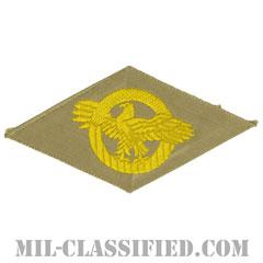 名誉除隊章 (ラプチャードダック)(WWII Honorable Discharge/Ruptured Duck)[カラー/カーキ機械織り/パッチ]の画像