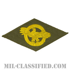 名誉除隊章 (ラプチャードダック)(WWII Honorable Discharge/Ruptured Duck)[カラー/OD機械織り/パッチ]の画像