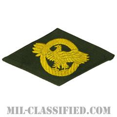 名誉除隊章 (ラプチャードダック)(WWII Honorable Discharge/Ruptured Duck)[カラー/グリーン機械織り/パッチ]の画像