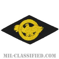 名誉除隊章 (ラプチャードダック)(WWII Honorable Discharge/Ruptured Duck)[カラー/ブラックフェルト刺繍/パッチ]の画像