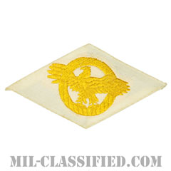 名誉除隊章 (ラプチャードダック)(WWII Honorable Discharge/Ruptured Duck)[カラー/ホワイト機械織り/パッチ]の画像