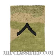 一等兵(Private Second Class (PV2))[OCP/ゴアテックスパーカー用スライドオン階級章]の画像
