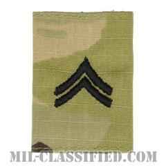 伍長(Corporal (CPL))[OCP/ゴアテックスパーカー用スライドオン階級章]の画像
