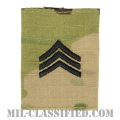 軍曹(Sergeant (SGT))[OCP/ゴアテックスパーカー用スライドオン階級章]の画像
