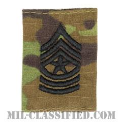 上級曹長(Sergeant Major (SGM))[OCP/ゴアテックスパーカー用スライドオン階級章]の画像