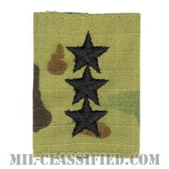 中将(Lieutenant General (LTG))[OCP/ゴアテックスパーカー用スライドオン階級章]の画像
