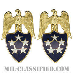 アメリカ陸軍元帥補佐官(Aide to the General of the Army)[カラー/兵科章(将校用)/バッジ/ペア(2個1組)]の画像