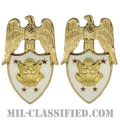 アメリカ陸軍次官補佐官(Aide to the Under Secretary of the Army)[カラー/兵科章(将校用)/バッジ/ペア(2個1組)]の画像
