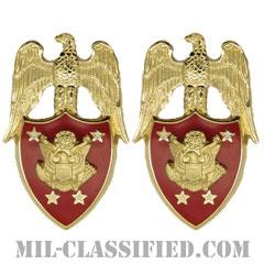 アメリカ陸軍長官補佐官(Aide to the Secretary of the Army)[カラー/兵科章(将校用)/バッジ/ペア(2個1組)]の画像