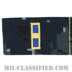 准尉 (WO-1)(Warrant Officer 1)[NWU Type1/襟用階級章/生地テープパッチ/ペア(2枚1組)]の画像