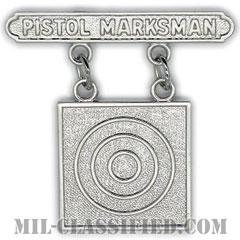 ピストル射撃技術章 (マークスマン)(Marksmanship Badge, Pistol Marksman)[カラー/鏡面仕上げ/バッジ]の画像