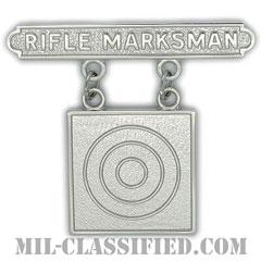 ライフル射撃技術章 (マークスマン)(Marksmanship Badge, Rifle Marksman)[カラー/鏡面仕上げ/バッジ]の画像