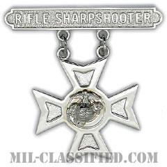 ライフル射撃技術章 (シャープシューター)(Marksmanship Badge, Rifle Sharpshooter)[カラー/鏡面仕上げ/バッジ]の画像