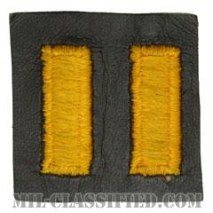 少尉(Second Lieutenant (2LT))[カラー/レザー生地/階級章/パッチ/ペア(2枚1組)]の画像