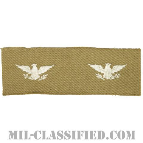 大佐(Colonel (COL))[カラー/カーキ生地/階級章/ペア(2枚1組)]の画像