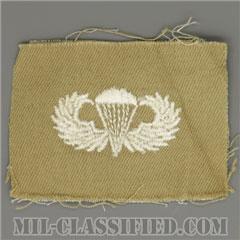 空挺章 (ベーシック)(Parachutist Badge, Basic)[カラー/カーキ生地/パッチ/1点物]の画像