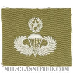 空挺章 (マスター)(Parachutist Badge, Master)[カラー/カーキ生地/パッチ/1点物]の画像