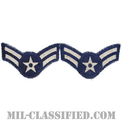 ニ等空兵/一等空兵(Airman Second Class/Airman First Class)[カラー/カットエッジ/空軍階級章/Large(男性用)/パッチ/ペア2枚1組/中古1点物]の画像