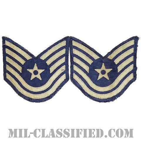 技能軍曹(Technical Sergeant)[カラー/カットエッジ/空軍階級章/Large(男性用)/パッチ/ペア2枚1組/中古1点物]の画像