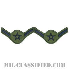 二等空兵(Airman)[サブデュード/メロウエッジ/空軍階級章(1991-)/Large(男性用)/パッチ/ペア(2枚1組)]の画像