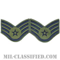軍曹(Staff Sergeant)[サブデュード/メロウエッジ/空軍階級章(1991-)/Large(男性用)/パッチ/ペア(2枚1組)]の画像