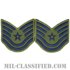 技能軍曹(Technical Sergeant)[サブデュード/メロウエッジ/空軍階級章(1991-)/Large(男性用)/パッチ/ペア(2枚1組)]の画像