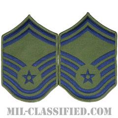 上級曹長(Senior Master Sergeant)[サブデュード/メロウエッジ/空軍階級章(1991-)/Large(男性用)/パッチ/ペア(2枚1組)]の画像