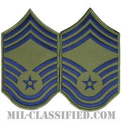 最上級曹長(Chief Master Sergeant)[サブデュード/メロウエッジ/空軍階級章(1991-)/Large(男性用)/パッチ/ペア(2枚1組)]の画像