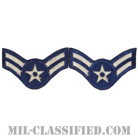 ニ等空兵/一等空兵(Airman Second Class/Airman First Class)[カラー/カットエッジ/空軍階級章/Large(男性用)/パッチ/ペア2枚1組]の画像