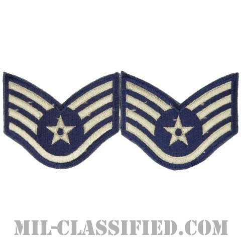 軍曹(Staff Sergeant)[カラー/カットエッジ/空軍階級章/Large(男性用)/パッチ/ペア2枚1組]の画像