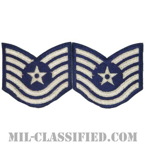 技能軍曹(Technical Sergeant)[カラー/カットエッジ/空軍階級章/Large(男性用)/パッチ/ペア2枚1組]の画像