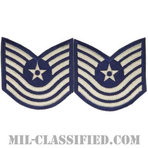 曹長(Master Sergeant)[カラー/カットエッジ/空軍階級章/Large(男性用)/パッチ/ペア2枚1組]の画像