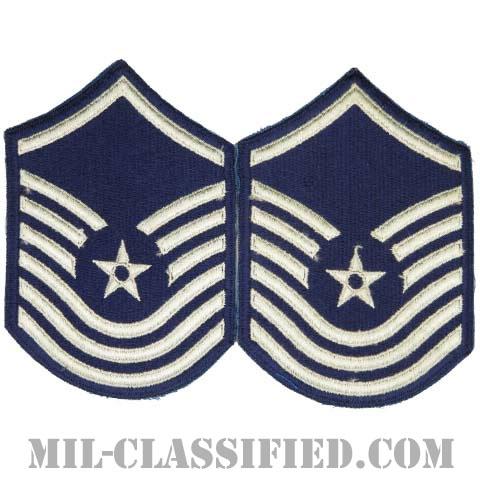 上級曹長(Senior Master Sergeant)[カラー/カットエッジ/空軍階級章/Large(男性用)/パッチ/ペア2枚1組]の画像