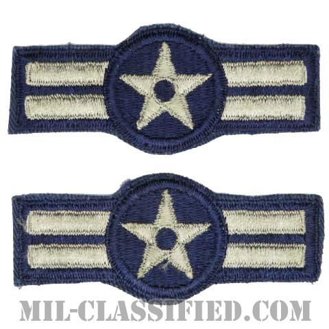 ニ等空兵(Airman Second Class)[カラー/カットエッジ/空軍階級章(1952-1956)/パッチ/ペア2枚1組]の画像