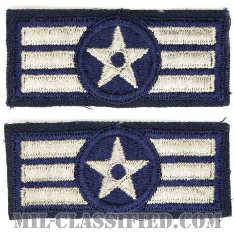 一等空兵(Airman First Class)[カラー/カットエッジ/空軍階級章(1952-1956)/パッチ/ペア2枚1組]の画像
