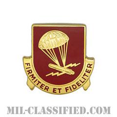 第377野戦砲兵連隊(377th Field Artillery Regiment)[カラー/クレスト(Crest・DUI・DI)バッジ]の画像