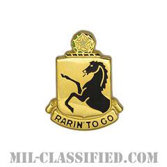第112騎兵連隊(112th Cavalry Regiment)[カラー/クレスト(Crest・DUI・DI)バッジ]の画像
