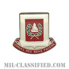第27工兵大隊(27th Engineer Battalion)[カラー/クレスト(Crest・DUI・DI)バッジ]の画像