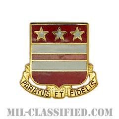 第258野戦砲兵連隊(258th Field Artillery Regiment)[カラー/クレスト(Crest・DUI・DI)バッジ]の画像