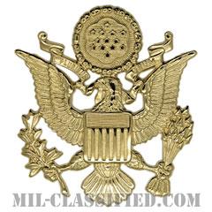 アメリカ陸軍制帽用帽章 (将校用・男性用)(Army Service Cap Device, Officer, Male)[カラー/バッジ]の画像