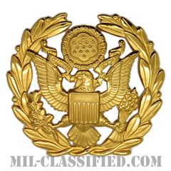 アメリカ陸軍制帽用帽章 (陸軍最先任上級曹長用)(Army Service Cap Device, Sergeant Major of the Army)[カラー/バッジ]の画像