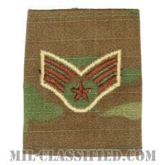 上等空兵(Senior Airman)[OCP/ゴアテックスパーカー用スライドオン空軍階級章]の画像
