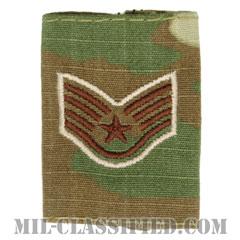 軍曹(Staff Sergeant)[OCP/ゴアテックスパーカー用スライドオン空軍階級章]の画像