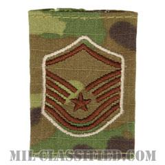 曹長(Master Sergeant)[OCP/ゴアテックスパーカー用スライドオン空軍階級章]の画像