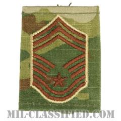 最上級曹長(Chief Master Sergeant)[OCP/ゴアテックスパーカー用スライドオン空軍階級章]の画像
