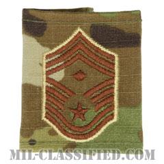 先任最上級曹長(First Sergeant (E-9))[OCP/ゴアテックスパーカー用スライドオン空軍階級章]の画像