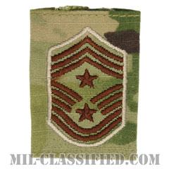 部隊先任最上級曹長(Command Chief Master Sergeant)[OCP/ゴアテックスパーカー用スライドオン空軍階級章]の画像
