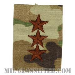 中将(Lieutenant General (LTG))[OCP/ゴアテックスパーカー用スライドオン空軍階級章]の画像