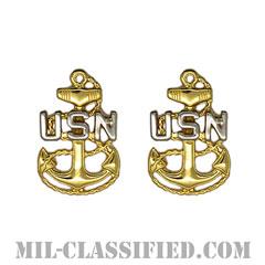 上等兵曹(Chief Petty Officer)[カラー/シャツ襟用/階級章/バッジ/ペア(2個1組)]の画像