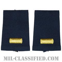 少尉(Second Lieutenant (2LT))[空軍ブルー/ショルダー階級章/ショートサイズ肩章/ペア(2枚1組)]の画像